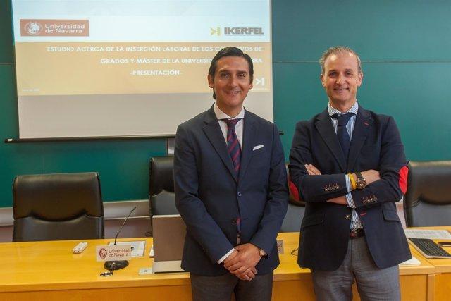 Roberto Cabezas presenta estudio sobre Universidad de Navarra.