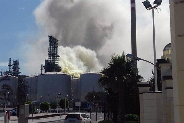 Escape en la refinería de Repsol