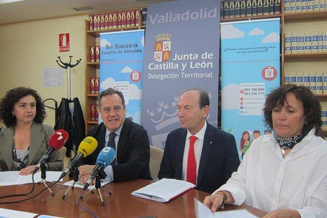 Sánchez y Cantalapiedra junto a Trillo en rueda de prensa 12/6/2018