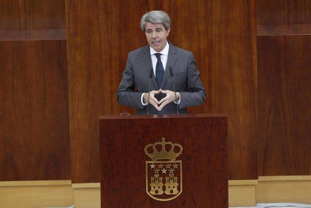Ángel Garrido interviene en el pleno de su investidura