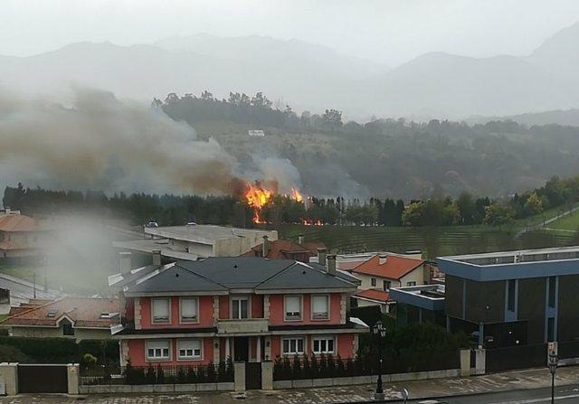 Incendio en Montecerrao