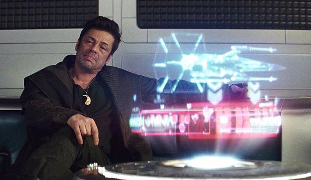 Benicio del Toro en Star Wars: Los últimos jedi