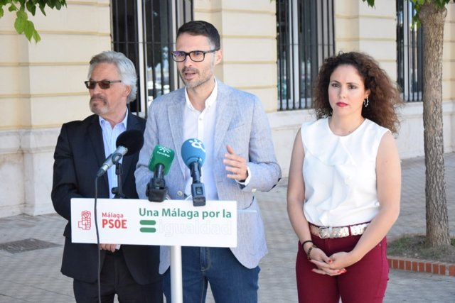 Juan Carlos Durán, en rueda de prensa, en Málaga
