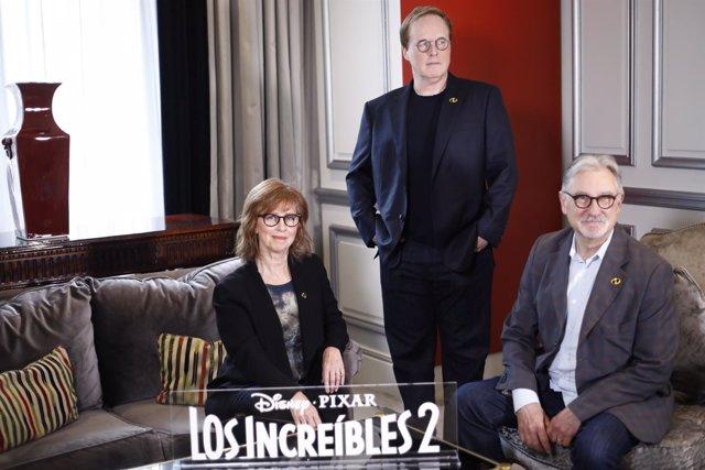 Photocall con el director de Los Increíbles 2, Brad Bird, y los productores