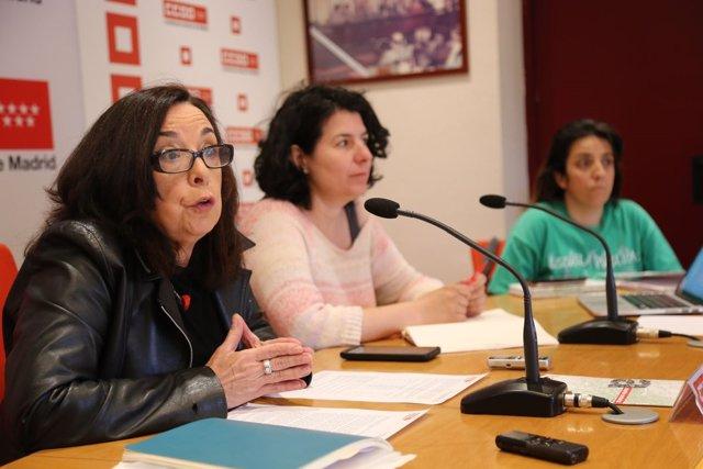 Isabel Galvín, de CCOO Madrid, en rueda de prensa
