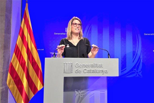 Elsa Artadi, portavoz y consellera de la Generalitat