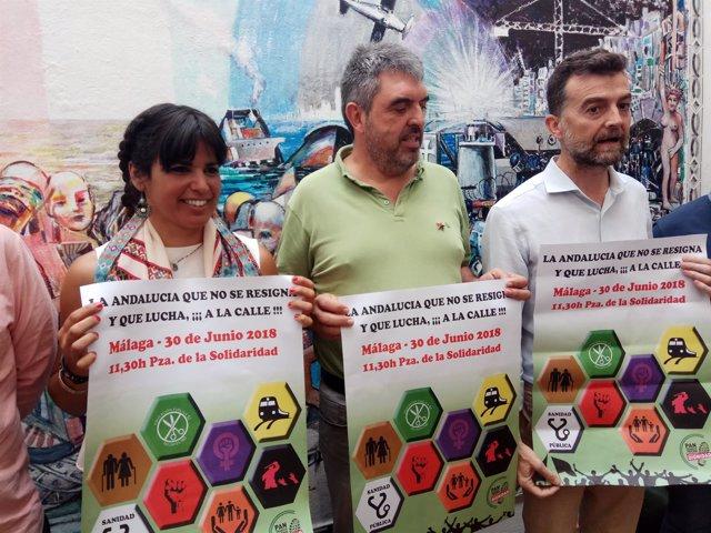 Teresa Rodríguez Podemos Montenegro CGT y Antoni Maillo IU
