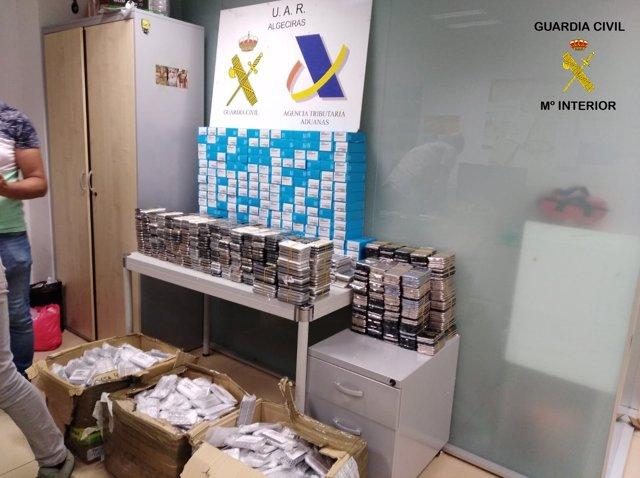 Material incautado tras una operación en el Puerto de Algeciras