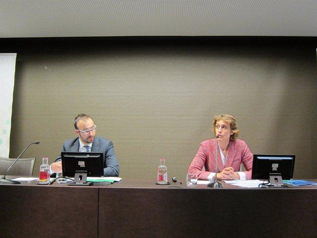 Jaume Amat (CataloniaBio & Health Tech) y Silvia Ondategui (EY)