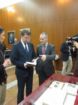 Alberto Núñez Feijóo y Jesús Vázquez en una foto de archivo