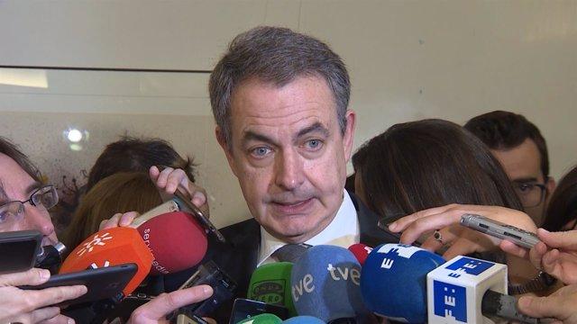 Zapatero En Declaracion En El Homenaje A Carme Chacón