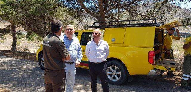 Diputados y concejales de Ciudadanos se desplazan hasta el Valle