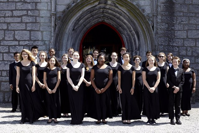 Los integrantes del Hopkins Concert Choir