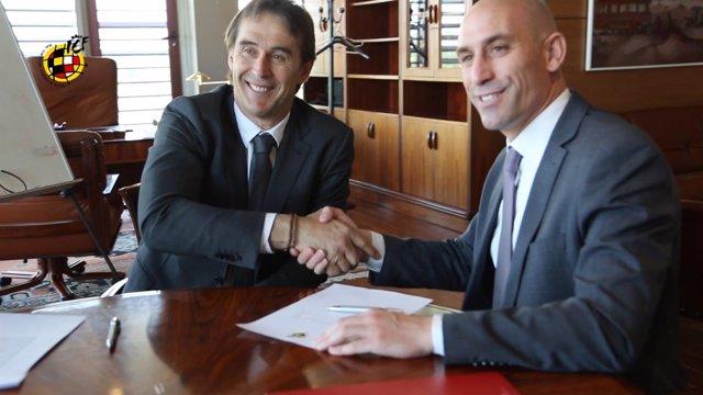 Julen Lopetegui renueva hasta 2020 como seleccionador nacional de fútbol