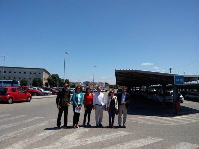 Visita solar futura estación de autobuses de El Puerto