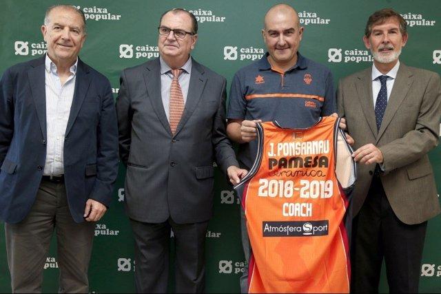Jaume Ponsarnau, presentado en el Valencia Basket