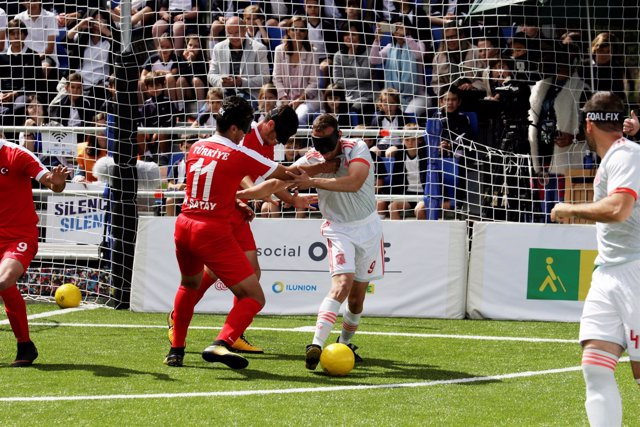 Antonio Martín en el Mundial de fútbol para ciegos