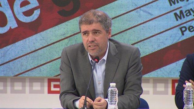 Unai Sordo y Pepe Álvarez, enla presentación del manifiesto del 1 de mayo