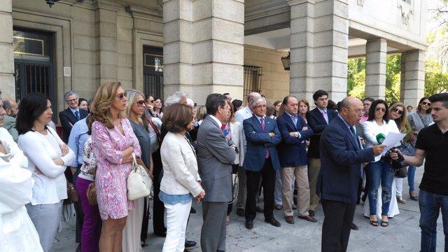 Concentración en Sevilla de letrados de la Administración de Justicia