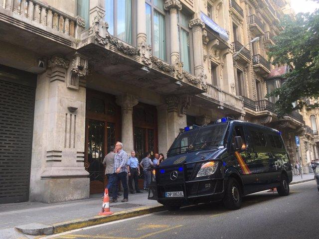 Registro en la Conselleria de Economía de la Generalitat por el 1-O