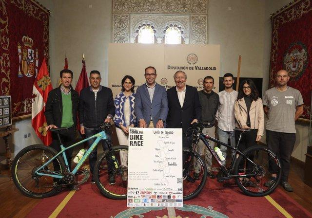 Presentación de la Bike Race, en la Diputación de Valladolid.