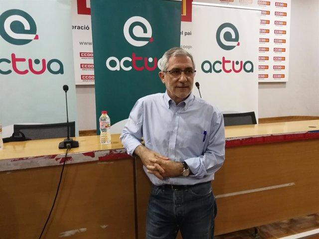 El parlamentario de IU, en la presentación de Actúa