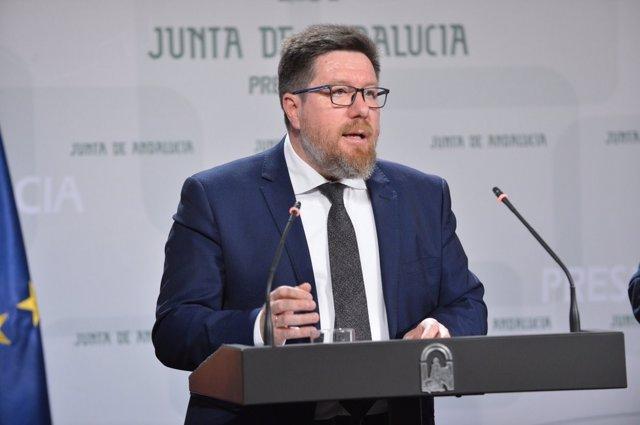 Rodrigo Sánchez Haro, Consejero de Agricultura de la Junta de Andalucía
