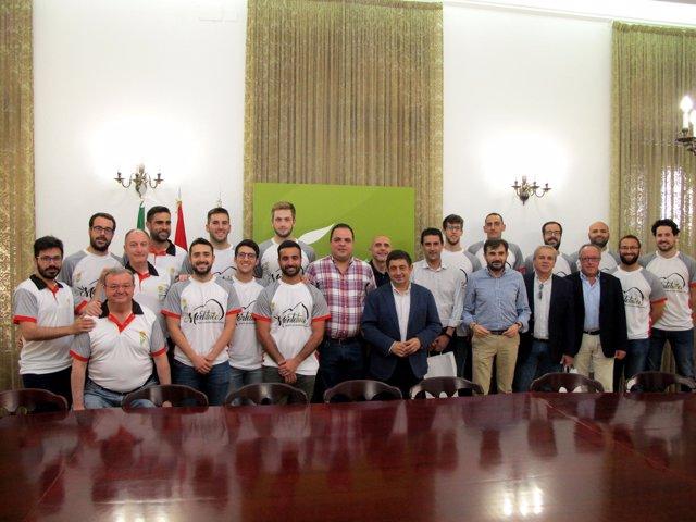 Recepción de la Diputación de Jaén a miembros de la plantilla del CB Martos