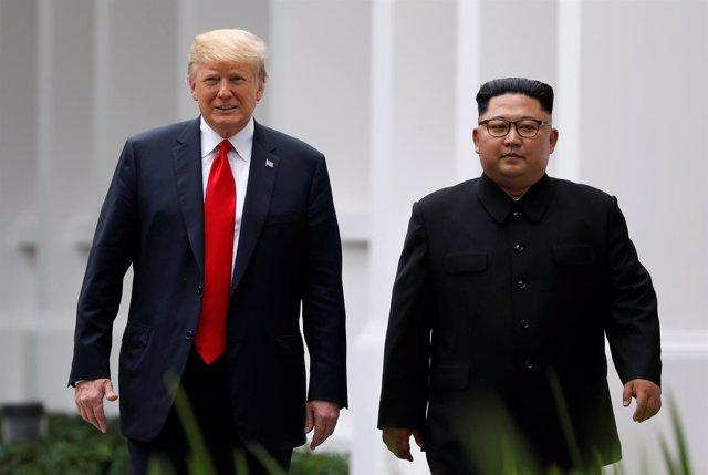 Histórico encuentro entre Donald Trump y Kim Jong Un en Singapur