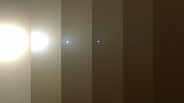Oscurecimiento del Sol registrado por Opportunity