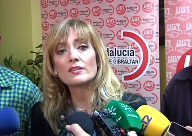 La secretaria general de UGT Andalucía, Carmen Castilla