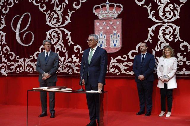 Toma de posesión de Carlos Izquierdo, consejero de Medio Ambiente madrileño