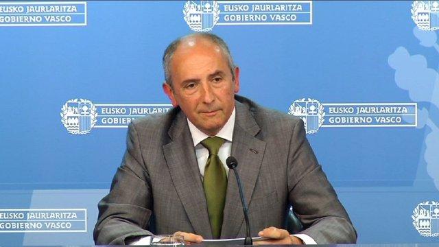 Foto de archivo del portavoz del Gobierno Vasco, Josu Erkoreka