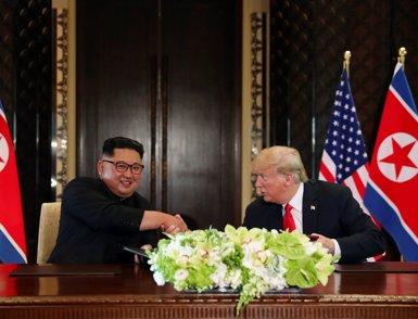 """Kim va defensar davant Trump la necessitat d'accions """"simultànies"""" per rebaixar la tensió a la península (REUTERS)"""