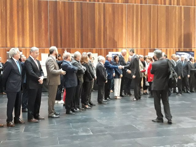 El Rey Felipe VI, en el Congreso Arquitectura y Sociedad en Pamplona.