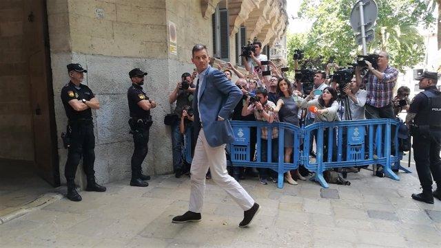 Iñaki Urdangarin llegando a la Audiencia tras la sentencia del Supremo