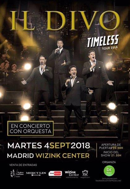 Il Divo celebra 15 años sobre los escenarios con conciertos en Gijón, Madrid y Almería