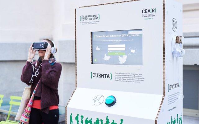 Tecnología para implicar al usuario en amplificar la voz de los refugiados