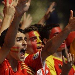 Aficionados españoles eurocopa