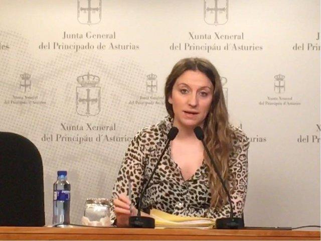 Lucía Montejo, diputada de Podemos Asturies