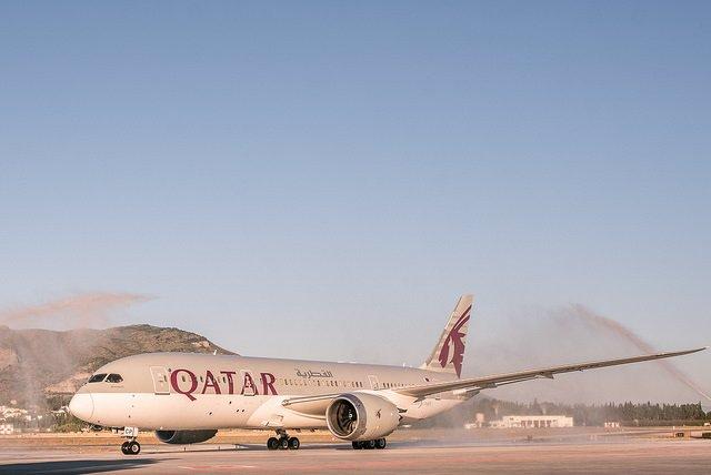 Vuelo avión ruta directa Qatar Airways málaga doha