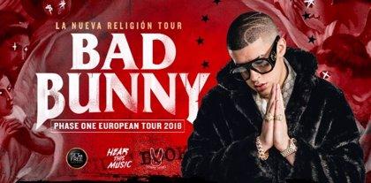 Bad Bunny acturá en 16 ciudades españolas durante el verano