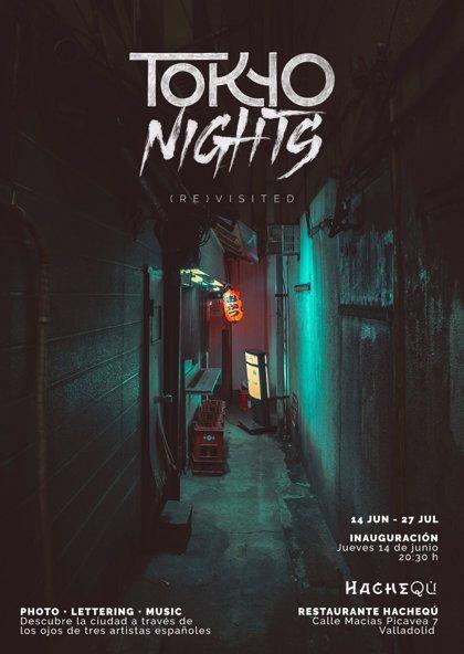"""El restaurante Hachequ de Valladolid acoge la exposición 'Tokyo nights' una """"vivencia sensorial"""" sobre la capital nipona"""