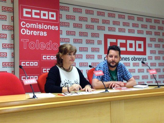 Representantes de CCOO en materia educativa