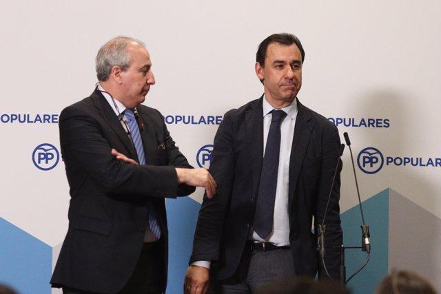 Juan Carlos Vera y Fernando Martínez Maillo en la Junta Directiva Nacional