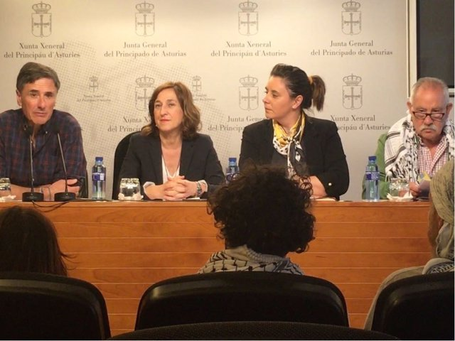 Diputados de PSOE, Podemos e IU presentan PNL en apoyo al pueblo palestino