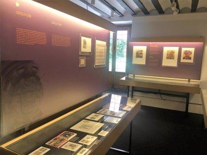 200 piezas entre sellos, monedas y lotería, en una muestra que homenajea al 'embajador' Cervantes en Valladolid