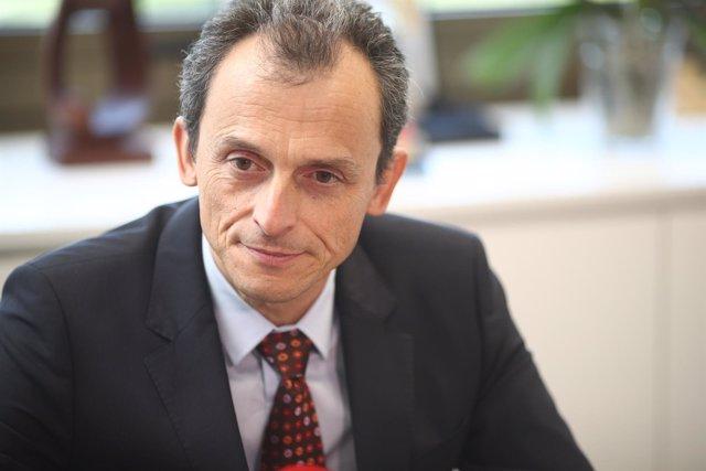 El ministro de Ciencia, Pedro Duque, en una entrevista con Europa Press