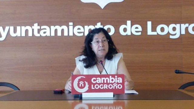 La concejala de Cambia Logroño Nieves Solana