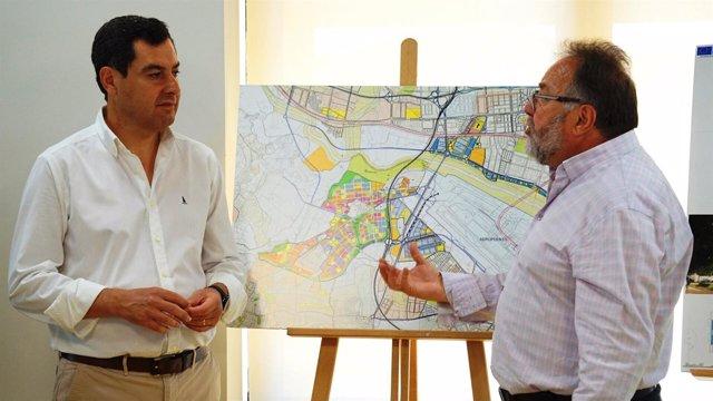 PP-A Moreno con alcalde de Alhaurín de la Torre proyecto ciudad aeropoertuaria